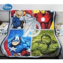 Disney Clearance The Avengers Thor Captain America Iron Man Hulk Blankets Throw for Boys BedSpread Sofa Bedroom Decor 117x152CM