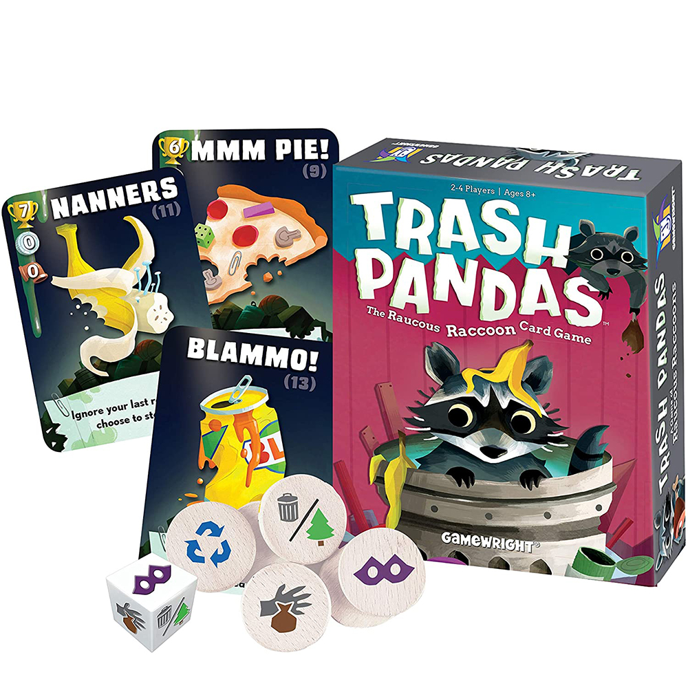Gamewright Trash Pandas The Raucous Raccoon Card Game Toy Party Entertainment Family Education Board Game
