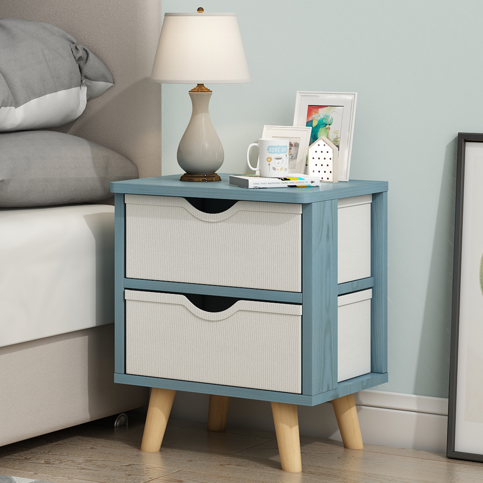 Table Northern Europe Simple Modern Simple Storage Cabinet Solid Wood Bedside Small Cabinet Shelf Small Storage Cabinet