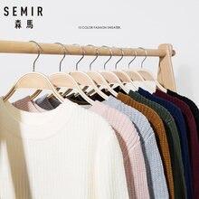 SEMIR – Pull tricoté, slim, chaud et épais pour homme, chandail ajusté, disponible en 10 couleurs, à la mode, nouvelle collection automne hiver, 2020