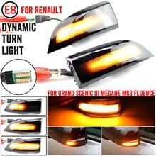 For Renault Megane MK3 Safrane LED Dynamic Side Blinker Light Dynamic Turn Signal Side Mirror Sequential Blinker Indicator Light