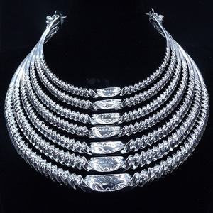 Image 2 - Southwestern National Wind Alloy Silver Plated Seven Layer Thread Womens Collar Festival Performance Accessories Female Jewelry