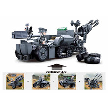World war Legoed military theme 368PCS Combined air defense vehicle building block children toy weapon figures(China)