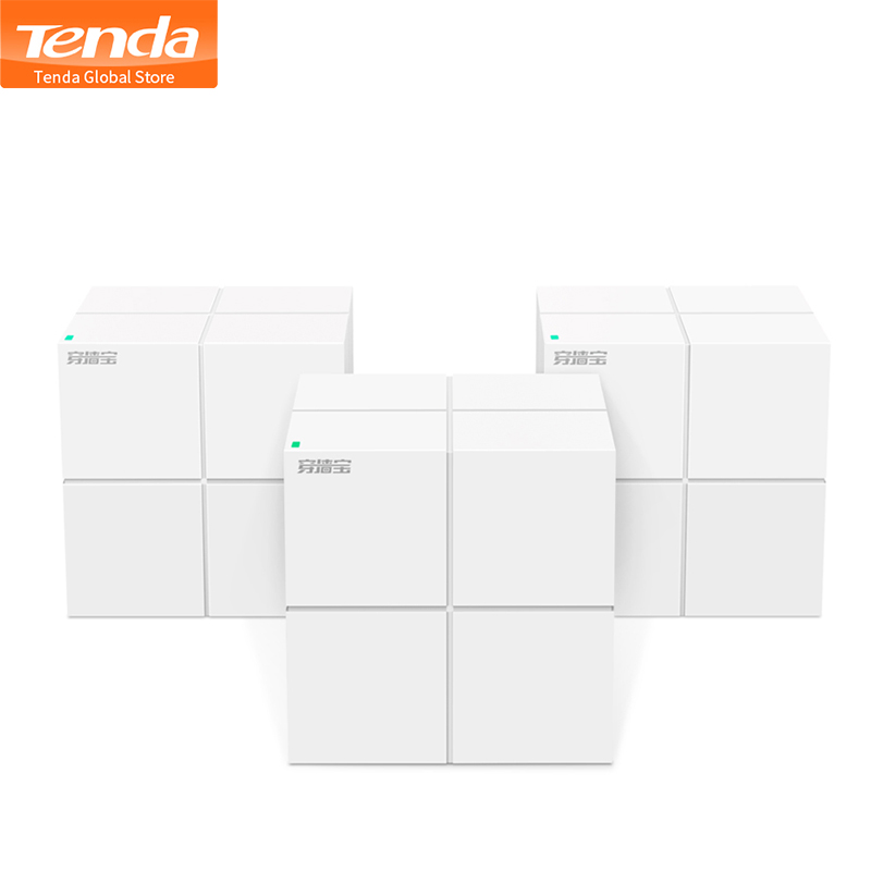 Tenda MW6 Whole Home Mesh Wireless WiFi System with 11AC 2.4G/5.0GHz WiFi Wireless Router and Repeater, APP Remote Manage(China)