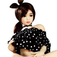 USA RU Warehouse Free Delivery Doll Silicone Flat Small Chest Breast Realistic 100cm Solid Mini Young Silicon Sex Doll For Men