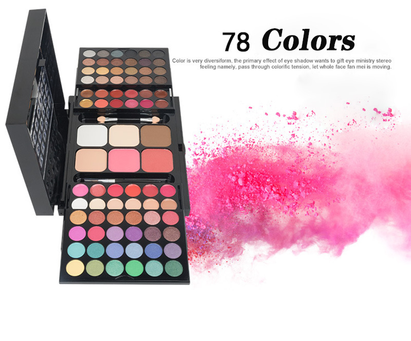 Fashion 78 Colors professional Cosmetic Palette