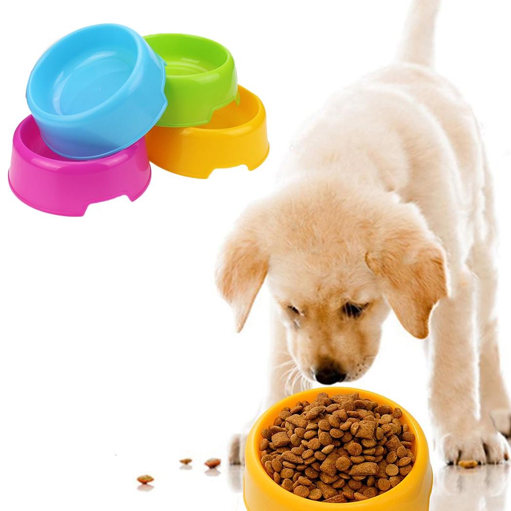 Safety Cute Multi-Purpose Candy Color Plastic Dog Bowls Feeding Water Food Puppy Feeder Cat Dog Bowls Pet Feeding Supplies
