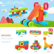 Toys Playboards Building-Blocks Construction Bristle-Shape Kids Children 3d for Gifts