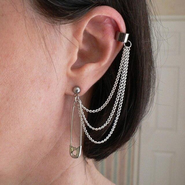 Fantasy Stud Earring With Ear-chain Cuff 3