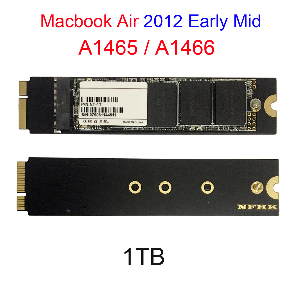 1 to SSD pour 2012 début milieu Macbook Air A1466 A1465 Md223 Md224 Md231 Md232 disque SSD Mac Air 1000GB SSD