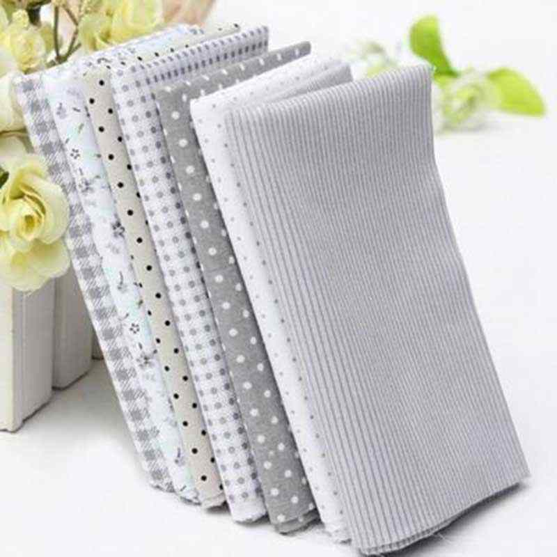 Mixed 7PCs/set 50x50cm Dots Fabric For Patchwork Cotton Fabric DIY Sewing Quilting Handmade Scrapbooking Sewing Craft