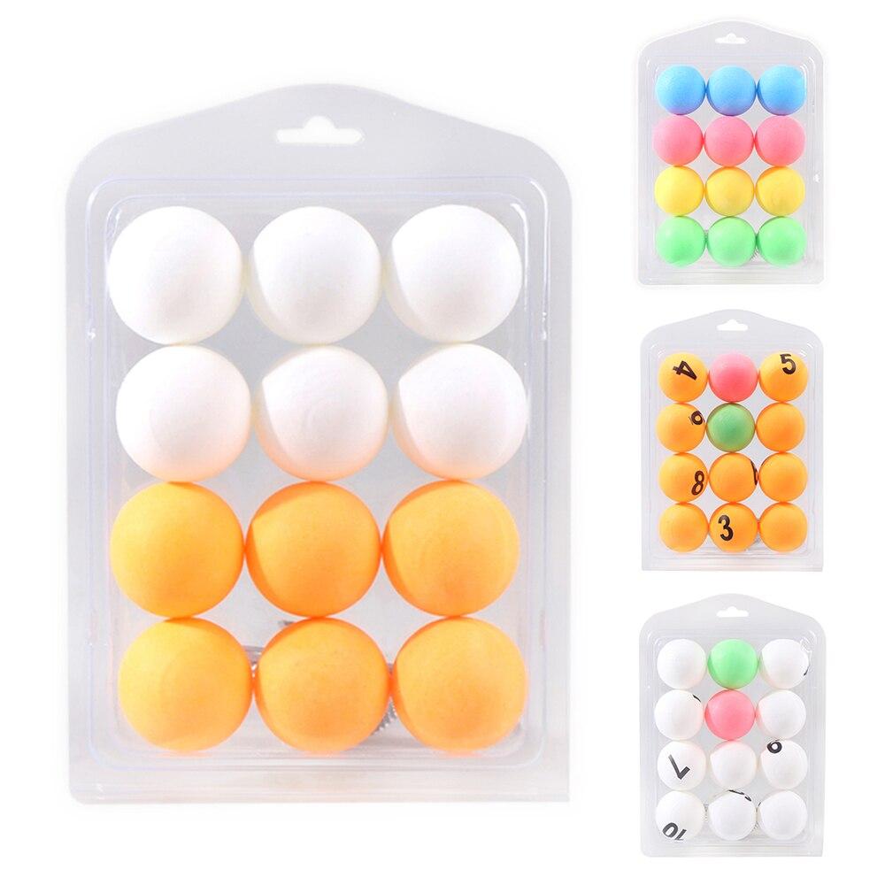 12 Pcs Colorful Ping Pong Balls Table Tennis Decor Balls Multi-functional Ping Pong Ball Amateur Training Practice Balls