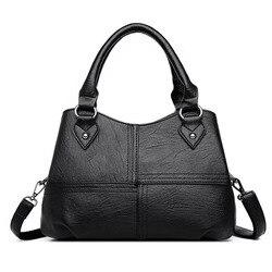 Женская сумка натуральная кожа 2020  модная чёрная сумка шоппер для женщин Pommax женская сумочка кожанная через плечо
