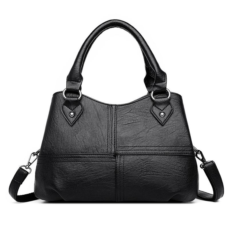 Women's Bag Genuine Leather 2020 Fashion Black Shopping Bag For Women Pommax Women's Handbag Leather Shoulder Bag