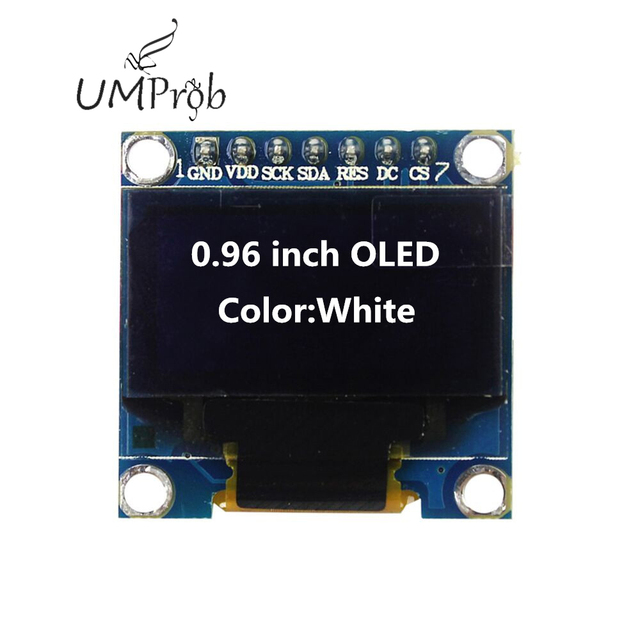 0.91 Inch 128x32 IIC I2C White / Blue OLED LCD Display DIY Module SSD1306 Driver IC DC 3.3V 5V for arduino 2