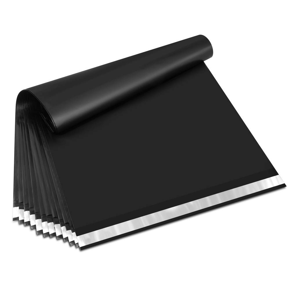 Poly Mailers 9x12'' Shipping Envelopes 230x305mm Black Shipping Bags,  2.35MIL, Pack Of 100