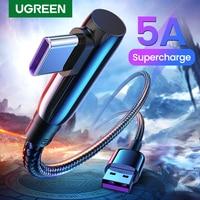 UGREEN 5A USB Tipo C Cavo Veloce Sovralimentare 40W USB C Carica Rapida 3.0 Tipo-C USB Veloce cavo di ricarica per Huawei Compagno di 30 Pro P30