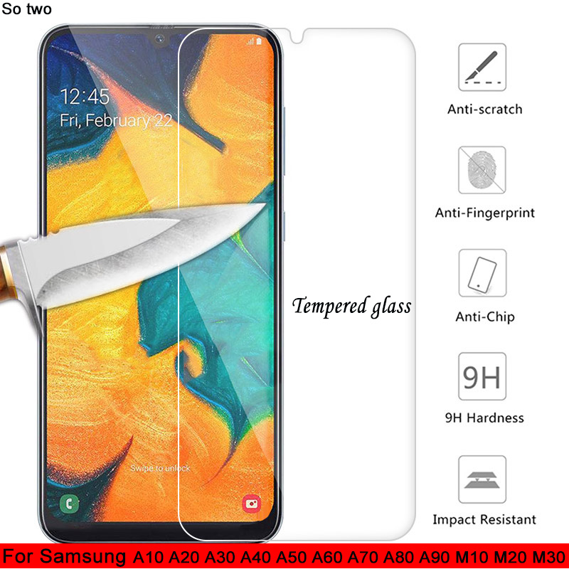 3pc Tempered <font><b>Glass</b></font> For <font><b>Samsung</b></font> A50 A40 A70 A80 A90 A60 Screen Protector on <font><b>Samsung</b></font> A50 a <font><b>m</b></font> 10 <font><b>20</b></font> 30 Full Cover Protective Film image