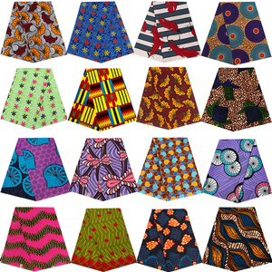 Ankara Africain printed real wax fabric sewing patchwork tissu cheap price polyester high quality dress garment craft accessory(China)