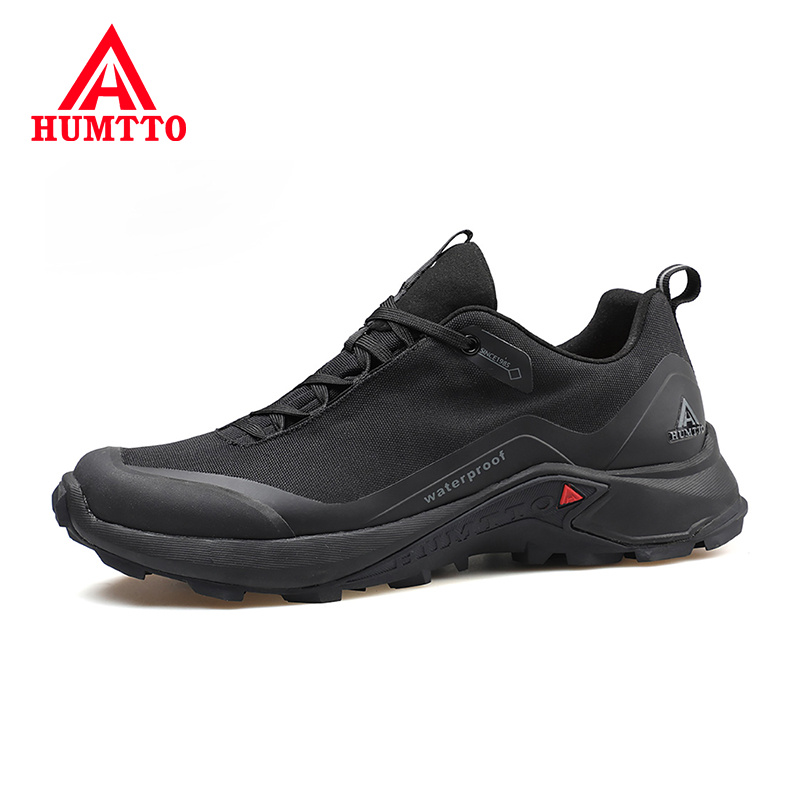 HUMTTO Breathable Outdoor Sneakers Men Casual Shoes Non-slip Brand Spring Fashion Lace-up Black Design Mens Shoe Big Size 39-46