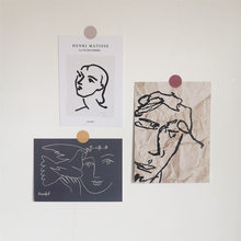 Einzigartige Abstrakte Kunst Malerei Postkarte Kleine Poster Ins Künstler Stil Wand Dekoration Schlafzimmer Pendel Requisiten Schreibwaren DIY Karte