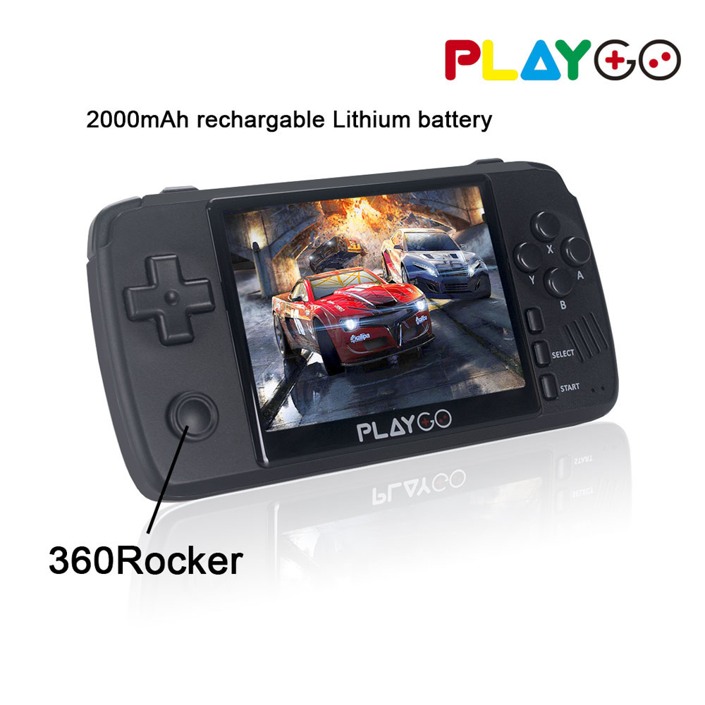 New Upgraded PLAYGO Emulator Console 3.5 inch IPS screen Handheld Game player built in 1000 games in 16GB TF card For PS1 NES(China)