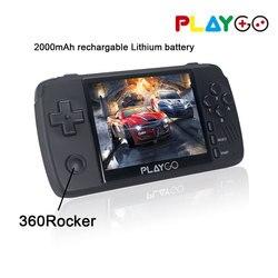 Nueva consola emuladora PLAYGO mejorada, Mando de juegos con pantalla IPS de 3,5 pulgadas, juegos integrados en 1000, tarjeta TF de 16GB para PS1 NES