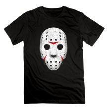 Horror Movie Maniac Friday the 13th Vintage T Shirts Short Sleeve Mans Awesome O-Neck Tees Novelty T-Shirts 100% Cotton