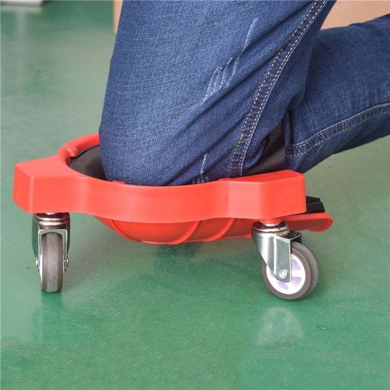 Rolling Wheels Mobile Knee Pad Built-in Foam Flexible Gliding Woodworking Tool