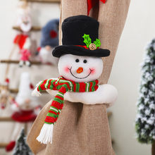 Christmas Curtain Buckle Holder Clip Buckle Tieback Decorations Room Living Room New Year Party Home Decor adornos de navidad(China)