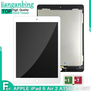 """9.7"""" LCD For Apple Ipad Air 2 ipad 6 A1567 A1566 Full Lcd Display With Touch Screen Digitizer Panel Assembly Complete +Adhesive(China)"""