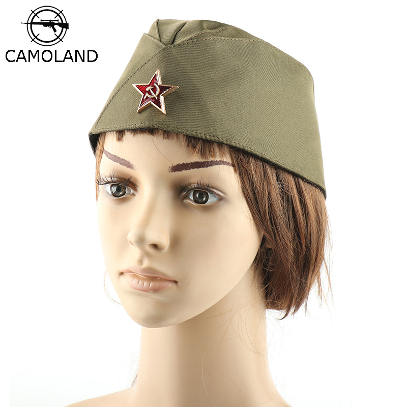 CAMOLAND Sailor Hat Women Dance Boat Caps Pentagram Soviet Badge Navy Hats Unisex Military Cap Party Cosplay Berets Cap