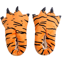 Children Shoes Indoor Slippers Funny Plush Baby-Girls Winter Warm Kid Soft Animal-Paw