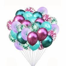цена на 30pcs/lot 12inch Clear Balloons mermaid Foil Confetti Transparent Balloons Happy Birthday Baby Shower Wedding Party Decorations