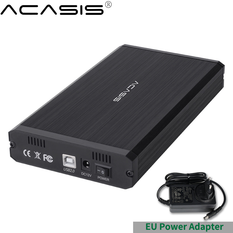 Acasis HDD Case USB 2.0 IDE TO SATA <font><b>3.5</b></font> 2.5 Adapter External Hard Drive Enclosure SSD Disk HDD Box Case <font><b>HD</b></font> image