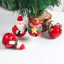 Горячая Распродажа Рождественские Елочные куклы-колокольчики олень с колокольчиками рождественские украшения для дома и сада праздничные вечерние принадлежности для украшения рождественской елки