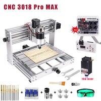 CNC 3018 MAX Stecher  5500mw/10w/15w große power laser  GRBL control mit 200W Spindel DIY CNC maschine 3 Achse PCB Fräsen Maschine