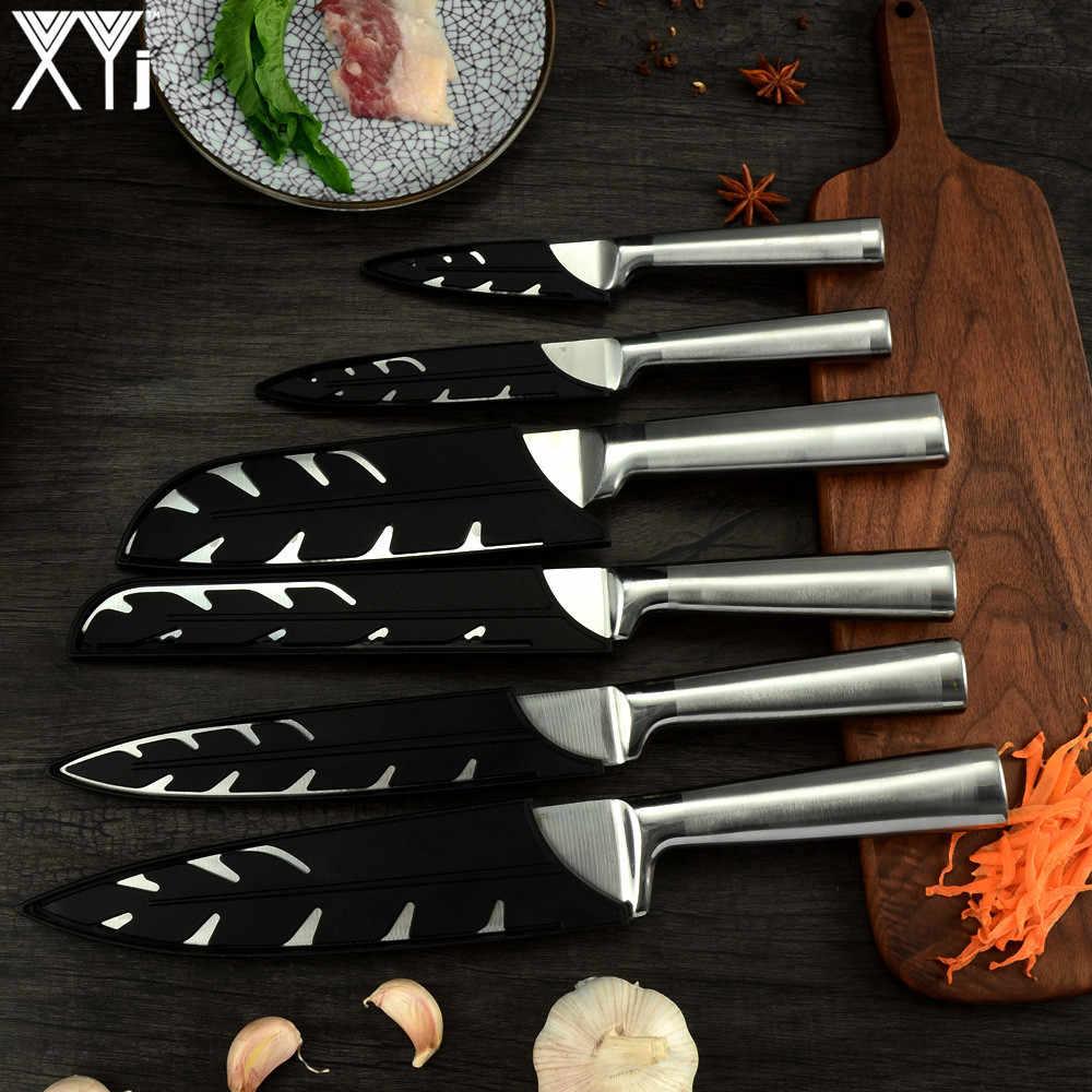 XYJ สแตนเลสสตีลชุดมีดครัวผลไม้ Paring Utility Santoku Chef หั่นขนมปังมีดครัวญี่ปุ่นชุดอุปกรณ์เสริม