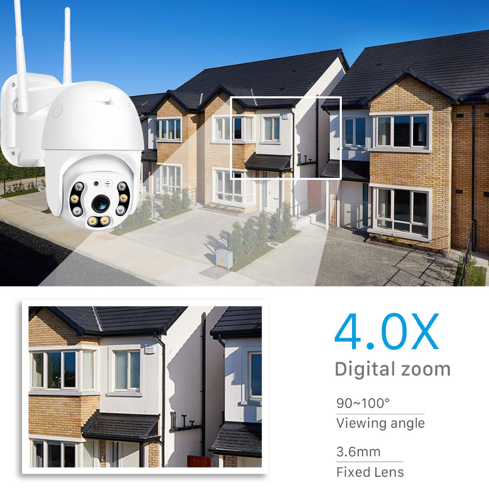 H58282555eb064e1a935e5577802bf6fb5 BESDER 1080P Outdoor Speed Dome Wifi Camera 2MP H.265 Audio PTZ Wireless Camera Cloud-SD Slot ONVIF Home Surveillance IP Camera