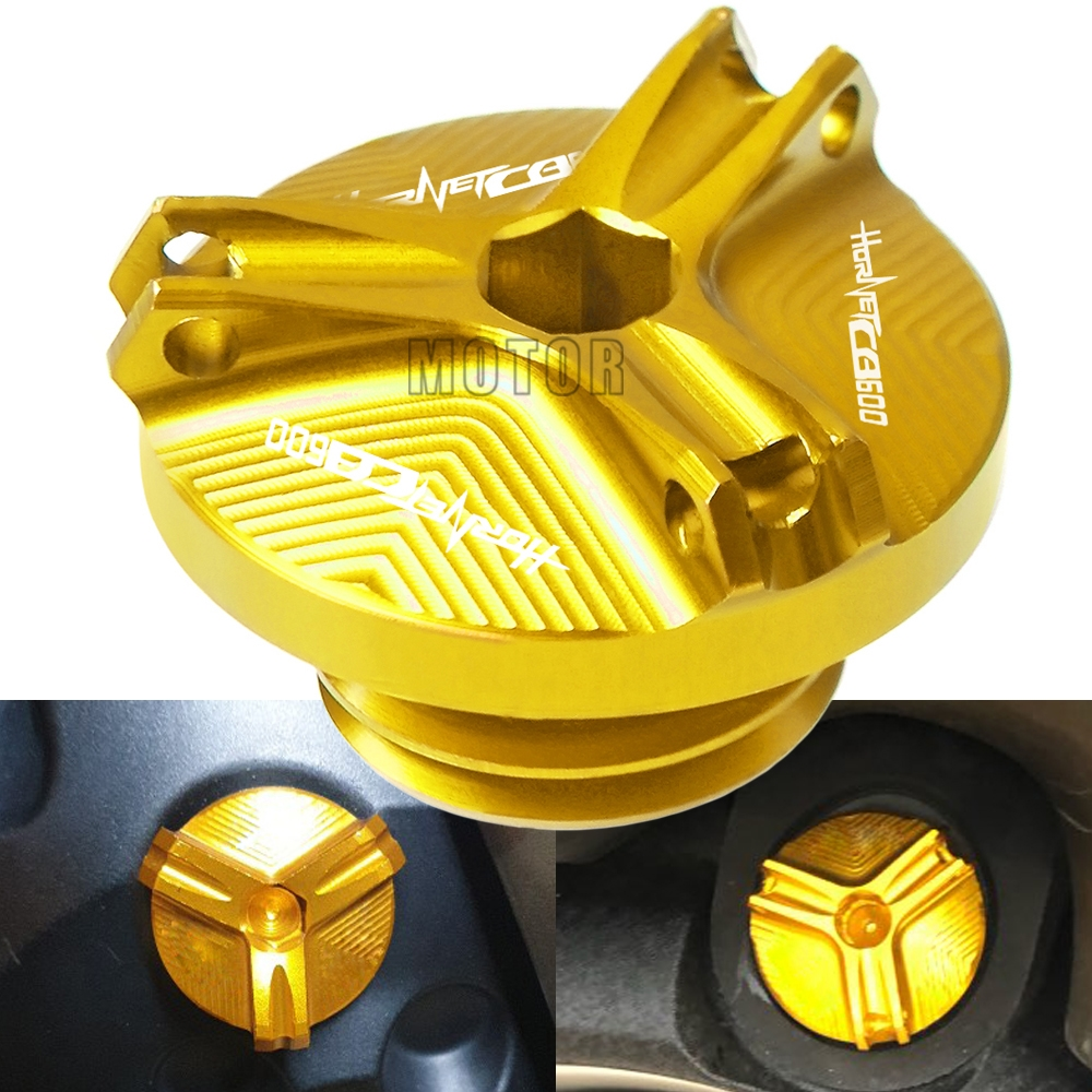 For Honda CB600 <font><b>Hornet</b></font> 1998-2006 1999 <font><b>2000</b></font> 2001 CB <font><b>600</b></font> Motorcycle CNC Aluminum Engine Oil Cup Cover Oil Filler Fill Cap Plug image