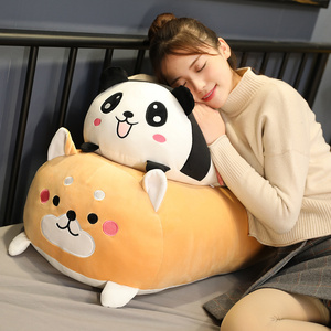 90CM Giant Soft Animal Cartoon Pillow Cushion Cute Fat Mouse Dog Panda Pig Plush Toys Stuffed Lovely Kids Birthyday Gift