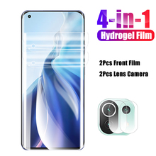 4in1 For xiaomi 11 Lite 11 Ultra 11 Pro Full cover Hydrogel Film + Lens Camera screen protector On for Mi 11pro 11lite 11ultra