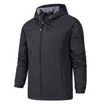 Мужская куртка-дождевик на открытом воздухе, весенняя и осенняя тонкая куртка, мужской спортивный плащ, ветровка, водонепроницаемый, дышащий