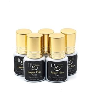 Image 5 - جديد وصول الأصلي كوريا IB Ibeauty سوبر بلس الغراء ل رمش ملحقات الأسود الغراء غطاء ذهبي 5 مللي 1s سريع الجافة شحن مجاني