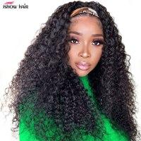 Ishow Stirnband Perücke Menschenhaar Lockigen Haar Stirnband Perücke Für Schwarze Frauen Brasilianische Volle Maschine Gemacht Brazilian Haar Perücken