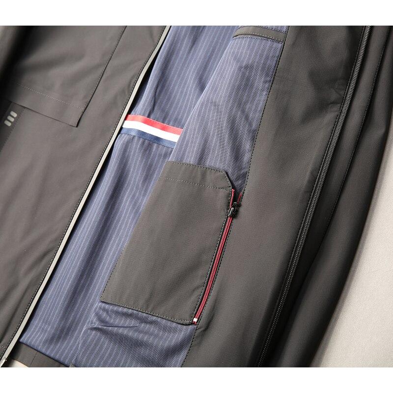 Plus size 8XL 7XL 6XL 5XL nova chegada jaquetas homens marca roupas de outono primavera com capuz preto casaco masculino top qualidade blusão - 6