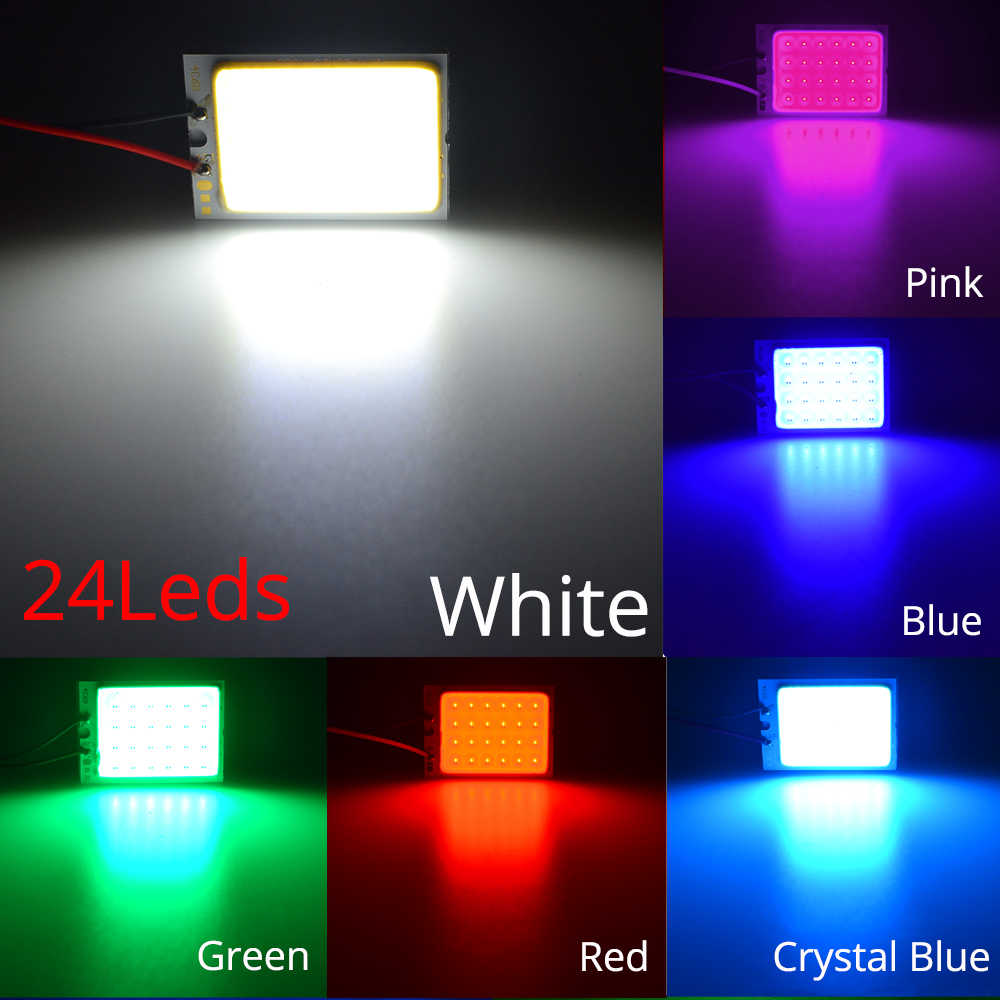 Weiß Rot Blau T10 W5w Cob 24SMD 36SMD Auto Led Fahrzeug Panel Lampe Auto Innen Lesen Lampe Lampe Licht Kuppel girlande BA9S DC 12v