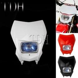 Motor terenowy Enduro podwójny Sport biały/czerwony reflektor do jazdy dziennej światło do hondy CRF230F CRF150F CRF 250 450 Yamaha KTM WR DRM na