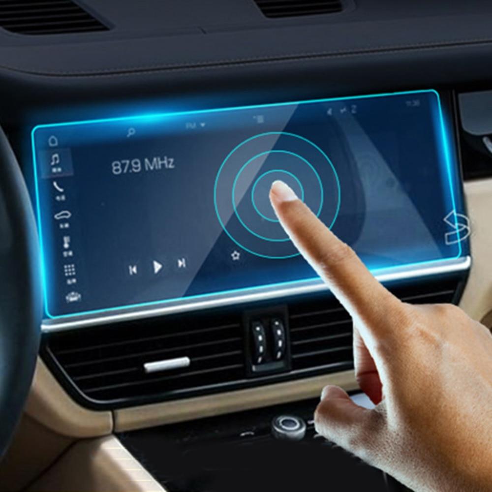Image 2 - Для Porsche Cayenne 2019 Авто навигация gps экран защитная пленка против царапин против отпечатков пальцев автомобильные аксессуары-in Лепнина для интерьера from Автомобили и мотоциклы on AliExpress
