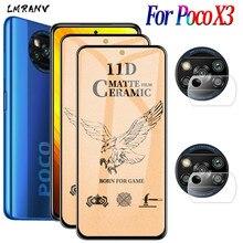 ماتي متجمد الزجاج POCO X3 NFC 2020 حامي الشاشة لينة فيلم وXiaomi Little X3 POCO X3 PRO X 3 السيراميك